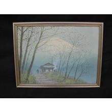 Tosuke S: Mt Fuji from Mountain Hut - Japanese Art Open Database