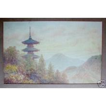 Tosuke S: Pagoda on mountain - Japanese Art Open Database