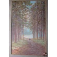 Tosuke S: Path through forest - Japanese Art Open Database
