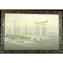Tosuke S: Ships at Miyajima - Japanese Art Open Database