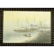 Tosuke S: Ships at shore - Japanese Art Open Database