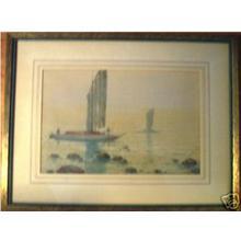 Tosuke T: Sealboats by Shore - Japanese Art Open Database