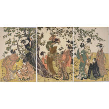 Utagawa Toyohiro: Picking Plum - Japanese Art Open Database