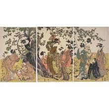 Utagawa Toyohiro: Picking Plum - Japanese Art Open Database