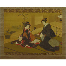 Utagawa Toyohiro: Three women — 三美人 - Japanese Art Open Database