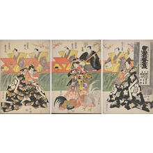 歌川豊国: A Scene from the Epic Tale, the Soga Brothers Revenge — 御贔屓延年曽我 - Japanese Art Open Database