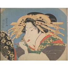 歌川豊国: Rouge (Fan Print) — 口紅 - Japanese Art Open Database