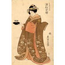 Utagawa Toyokuni I: Sawamura Tannosuke 2 as a tea-house waitress - Japanese Art Open Database