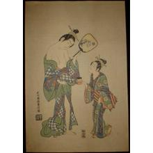 石川豊信: Courtesan Taifu and Hage — 太夫と禿 - Japanese Art Open Database