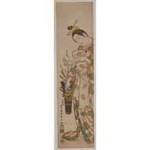 石川豊信: Flowers in a Pail — 花桶 - Japanese Art Open Database