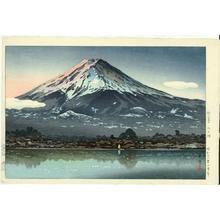 風光礼讃: Morning Fuji from Lake Kawaguchi - Japanese Art Open Database