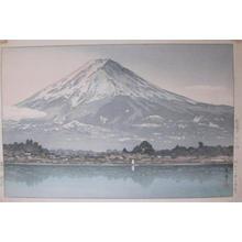 Tsuchiya Koitsu: Morning Fuji from Lake Kawaguchi - Japanese Art Open Database