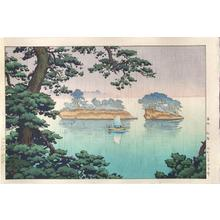 風光礼讃: Spring Rain at Matsushima - Japanese Art Open Database