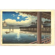 Tsuchiya Koitsu: Summer Moon at Miyajima - Japanese Art Open Database