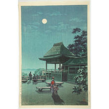 風光礼讃: Autumn Moon at Ishiyama Temple — 石山寺の秋月 - Japanese Art Open Database