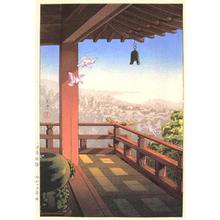 Tsuchiya Koitsu: Evening Bell at Mii Temple — 三井寺晩鐘 - Japanese Art Open Database