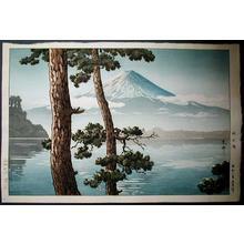 Tsuchiya Koitsu: Fuji from Lake Kawaguchi - Japanese Art Open Database