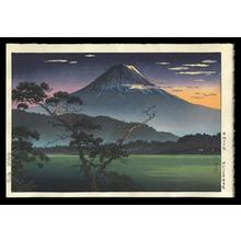 Tsuchiya Koitsu: Fuji from Lake Sai - Evening View from Lake Sai — Saiko no Yuushou - Japanese Art Open Database