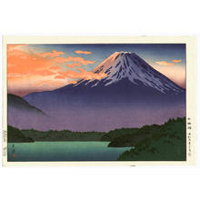 風光礼讃: Lake Motosu - Japanese Art Open Database
