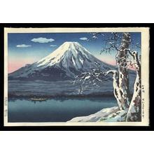 Tsuchiya Koitsu: Lake Yamanaka in Winter - Japanese Art Open Database