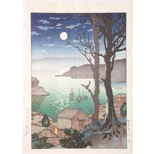Tsuchiya Koitsu: Maizuru Harbor at Night - Japanese Art Open Database