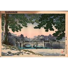 Tsuchiya Koitsu: Nijubashi Bridge - Japanese Art Open Database