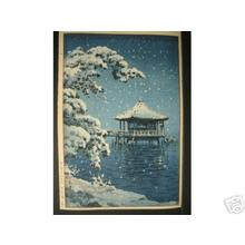 風光礼讃: Snow at Ukimido, Katata - Japanese Art Open Database