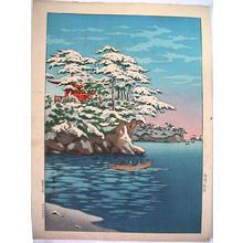 Tsuchiya Koitsu: Snowy Matsushima - Japanese Art Open Database