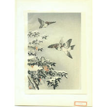 Tsuchiya Koitsu: Sparrows - Koban - Japanese Art Open Database