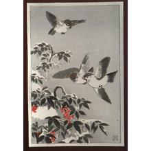 風光礼讃: Sparrows - Japanese Art Open Database