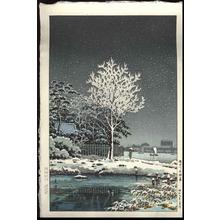 風光礼讃: Snow on Sumida River - Japanese Art Open Database