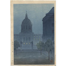 Tsuruoka Kakunen: View of City Hall in San Francisco - Japanese Art Open Database
