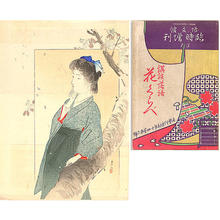 Tsutsui Toshimine: Beneath the flowering cherry - Japanese Art Open Database