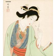 Uemura Shoen: Beauty and plum blossom - Japanese Art Open Database