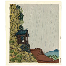Unichi Hiratsuka: Rakan Temple at Yabakei - Japanese Art Open Database