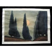 Urushibara Mokuchu: Trees in Moonlight - Japanese Art Open Database