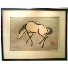 Urushibara Mokuchu: horse - Japanese Art Open Database