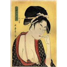 喜多川歌麿: Moatside Prostitute - Japanese Art Open Database