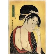 喜多川歌麿: Moatside Prostitute - Japanese Art Open Database
