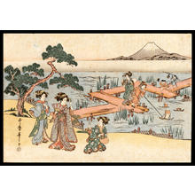Kitagawa Utamaro: Beauties and Fuji - Japanese Art Open Database
