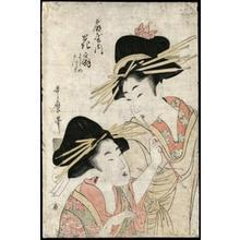 Kitagawa Utamaro: Hanaogi of Ogiya - Japanese Art Open Database