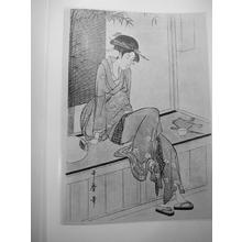 Kitagawa Utamaro: Unknown, Bijin in robe - Japanese Art Open Database