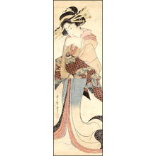 喜多川歌麿: Kakemono- Standing Bijin - Japanese Art Open Database