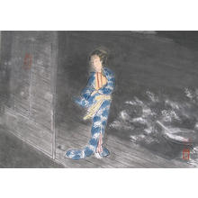 Wada Sanzo: Autumn wind — 秋風 - Japanese Art Open Database