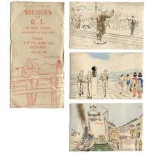 Wada Sanzo: Sketches of GI's - Japanese Art Open Database