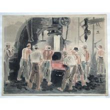Wada Sanzo: Iron Worker - Japanese Art Open Database