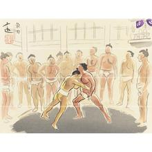 Wada Sanzo: Sumo wrestling — 角力 - Japanese Art Open Database