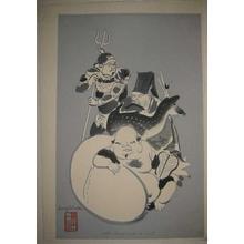 Wada Sanzo: The Seven Gods of Luck - Left — 七福神(左) - Japanese Art Open Database