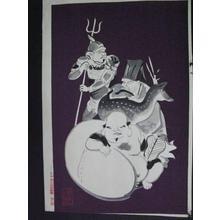 和田三造: The Seven Gods of Luck - Left — 七福神(左) - Japanese Art Open Database