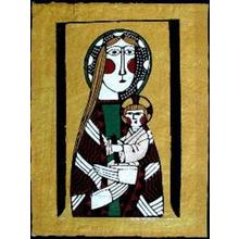 Watanabe Sadao: Madonna and Child- 1 - Japanese Art Open Database